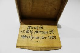 German StudentVerbindum decorated with the arms of the Corps Rhenania, Heidelberg, dated within