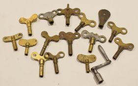 Box of vintage small clock keys