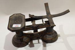 Set of vintage balance scales
