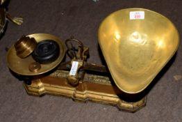 Vintage brass Avery balance scales