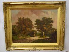 Robert Mallett (1867-1950)Woodland landscapeoil on canvas, signed lower right49 x 64cm