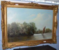 Alan Canham (contemporary)Broadland sceneoil on canvas, signed lower left50 x 75cm
