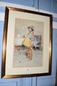 Ernest Torrini (19th century)Italian noblemanwatercoloursigned lower right36 x 22cm