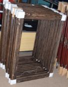 Group of 14 modern wooden picture frames with foliate decoration to corners, rebate size 60 x