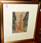 Fiorenza Cangetti (20th century)Venetian viewwatercolour, initialled lower right15 x 11cm