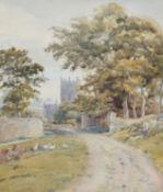English School (19th/20th Century), 'St David's, Pembrokeshire', watercolour, 34 x 24cm