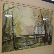 John Farquharson (20th century)Norfolk Millwatercolour, signed and dated 86 lower right28 x 45cm