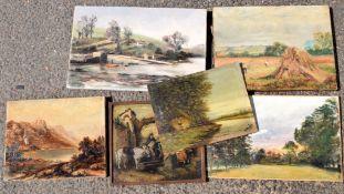 6 various oil paintings (6)