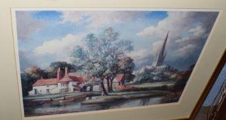 After Max HoflerPull's Ferrycoloured print30 x 41cm