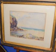 E A S Austin (19th/20th Century), 'Chapel Porth, Cornwall', watercolour, signed and dated 1918 to