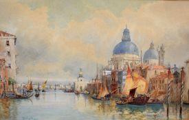 Hubert James Medlycott (1841-1920) Venetian scene, watercolour, signed and dated 1891 lower left, 34