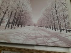 Two prints: Winter Scenes