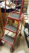 4-wheel Shelf/Library Ladder- stated to be very stable and ideal for bookshelves