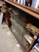 Two glass fronted Bookcases- each 100 x 100