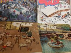 "Collection of 12 various ""Giles"" Cartoon Annuals"