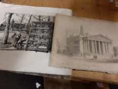 Ephemera: selection various Engravings & Prints, many 100yrs old plus (36)