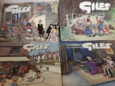 """Collection of 12 various """"Giles"""" Cartoon Annuals"""