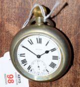 Railway-interest LNER 6396 Swiss made fob watch by Selex.