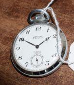 Railway-interest BR(E) 11520 fob watch by Montine of Switzerland.