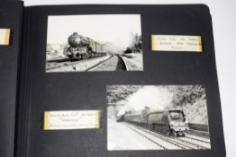 Black photo album 32 x 24cm containing approx railway-interest 95 photos, including a number of