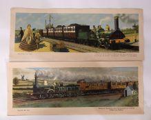 Original unframed railway carriage prints from the Hamilton Ellis 'Travel In' series. 26 x 63cm 1850