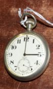 Railway-interest LMS 10958 Swiss made fob watch by Recta.