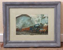 Railway-interest Print of 'Proud Steam' by C Hamilton Ellis, showing the Norfolk Coast Express