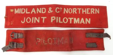Rail Uniform: Felt armband 'MIDLAND & GREAT NORTHERN JOINT PILOTMAN'. Grubby but good condition