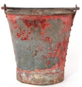 Railway Tools: Fire bucket stamped 'LMS'.