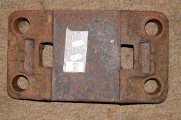 Railway Chair: BR clip type rail chair 'MR(S) 1954'.
