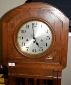Railway-interest long-case Clock 166cm with brass plate 'Presented to Robert Moore Esq (Audit