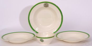 Green/white china 'The Railway Convalescent Home', a similar lot comprising: 17 x shallow dish