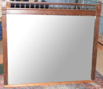 Railway Mirror: GN&GE Joint Rly waiting room mirror 132 x 113cm in ornate wooden frame inscribed '