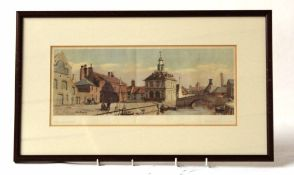 Original LNER railway carriage print 'Kings Lynn, Norfolk' from a water colour by Gyrth Russell.