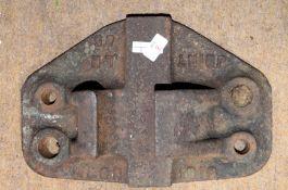 Railway Chair: Large M&GN rail chair 'M&GN 85 1910 JOINT LH'