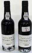 1994 Taylor Vintage Port, 2 hlfs.