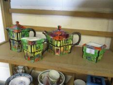 Four various pieces Cottage Ware
