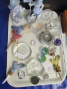 Qty various Glass and Ceramic Collectables.