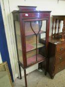 Edwardian mahogany glazed Display Cabinet, width 59cm
