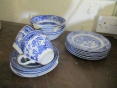 Qty various Willow Pattern Tea Wares
