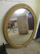 Victorian oval Wall Mirror, 73 x 57cm