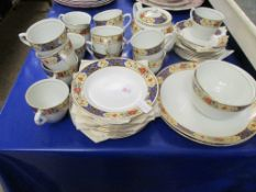 PART SET OF FLORAL AND GILDED TEA WARES
