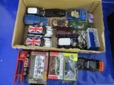 Box: gd qty various die-cast and other toy Vehicles