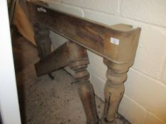 Set of four Victorian mahoganyfluted Table Legs