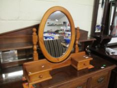 Modern pine Dressing Table or Toilet Mirror, width 78cm