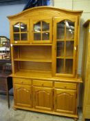 Pine Display Cabinet, width 150cm