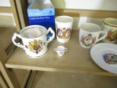 Collection of various Royal commemorative Mugs and other similar