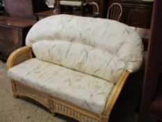 Upholstered can Conservatory Sofa, width approx 122cm
