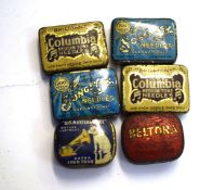 Collection of phonographic needle tins (6)