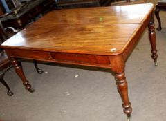 19th century mahogany desk (possibly formerly converted from a dining table), rectangular form